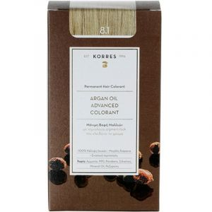 Korres Argan Oil Advanced Colorant Βαφή Μαλλιών 8.1 Ξανθό Ανοικτό Σαντρέ 50 ml | Dpharmacy.gr