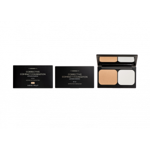 Korres Corrective Compact Foundation SPF20 Activated Charcoal ACCF1 Διορθωτικό Compact Make Up με Ενεργό Άνθρακα 9.5gr