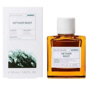 Korres Vetiver Root Eau De Toilette Ανδρικό Άρωμα Με Νότες Περγαμόντου & Πράσινου Τσαγιού 50ml