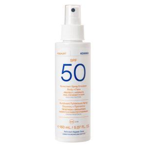 Korres Yogurt Sunscreen Spray Emulsion Body + Face Αντηλιακό Γαλάκτωμα Σε Σπρέι Για Πρόσωπο + Σώμα SPF50 150ml