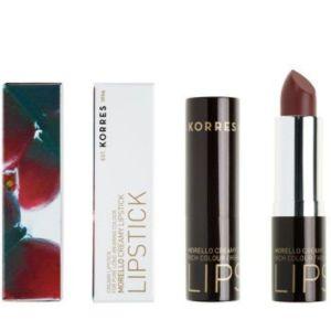 Korres Morello Creamy Lipstick 34 Κρεμώδες Κραγιόν Mocha Brown Καφέ 3.5gr