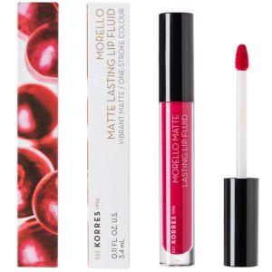 Korres Morello Matte Lasting Lip Fluid 29 Strawberry Kiss Υγρό Κραγιόν Lipgloss 3.4 ml