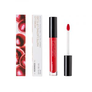 Korres Morello Matte Lasting Lip Fluid 53 Red Velvet Υγρό Κραγιόν 3.4 ml