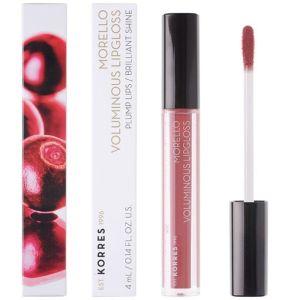 Korres Morello Voluminous Lip Gloss 23 Natural Purple Υγρό Κραγιόν 4ml