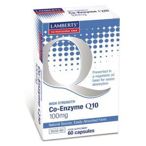 Lamberts Coenzyme Q10 100mg Συμπλήρωμα Συνενζύμου 60caps