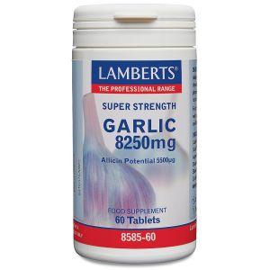 Lamberts Garlic 8250mg Συμπλήρωμα Διατροφής Για Το Καρδιαγγειακό Σύστημα 8585 60tabs