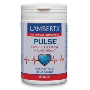 Lamberts Pure Fish Oil With CoQ10 Φυσιολογική Λειτουργία της Καρδιάς, Εγκεφάλου, Όρασης, 8536-90,  90Tabs