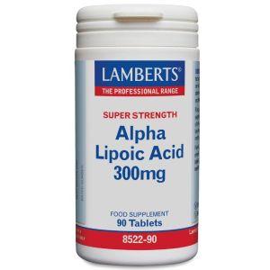 Lamberts Alpha Lipoic Acid 300mg Αντιοξειδωτικό Συμπλήρωμα Άλφα Λιποϊκού Οξέως 90Tabs