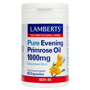 Lamberts Συμπλήρωμα Διατροφής Evening Primrose Oil Gla 1000Mg 8501-90 90Caps | Dpharmacy.gr