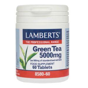 Lamberts Συμπλήρωμα Διατροφής Green Tea 5000Mg 8580-60 60Tabs