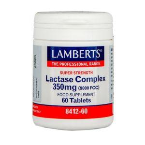 Lamberts Lactase Complex 350mg Μειώνει Τα Συμπτώματα Της Δυσανεξίας Στη Λακτόζη & Για Χορτοφάγους 60tabs