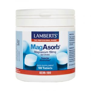 Lamberts Συμπλήρωμα Διατροφής Μαγνήσιο Mag Asorb Magnesium 150Mg As Citrate 8239-180 180Tabs