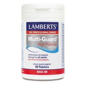 Lamberts Multi Guard High Potency One A Day Πολυβιταμινούχο Σκεύασμα Υψηλής Δραστικότητας 8442 90Tabs