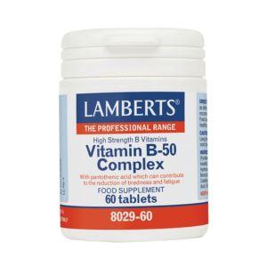 Lamberts Συμπλήρωμα Διατροφής Vitamin B-50 Complex 8029-60 60Tabs