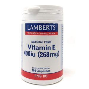 Lamberts Vitamin E 400iu Natural Form Συμβάλλει Στην Προστασία Των Κυττάρων 8708 180caps
