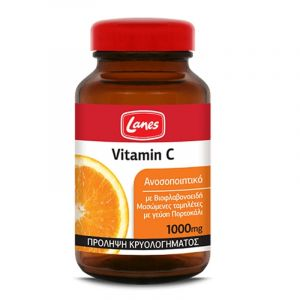 Lanes Vitamin C 1000Mg Συμπλήρωμα Διατροφής Με Βιταμίνη C Σταδιακής Αποδέσμευσης 60 Mασώμενες Tαμπλέτες