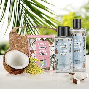 Love Beauty And Planet Gift Set Σαμπουάν 400ml & Αφρόλουτρο Με Καρύδα - Άνθη Μιμόζα 500ml