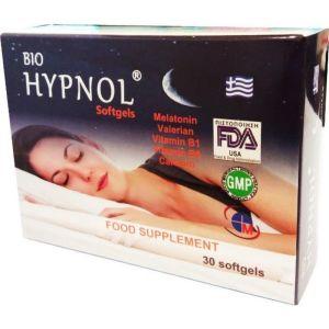 Medichrom Bio Hypnol Συμπλήρωμα Διατροφής Για Τον Ύπνο με Μελατονίνη Βαλεριάνα 30 μαλακές κάψουλες | Dpharmacy.gr