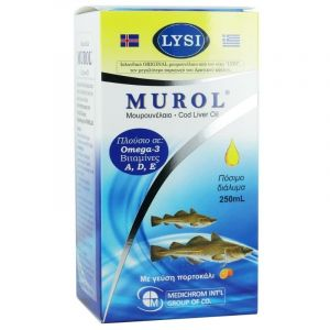 Medichrom Murol Μουρουνέλαιο Mε Γεύση Πορτοκάλι 250ml