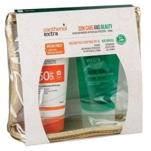 Medisei Promo Panthenol Extra Sun Care Face and Body Milk Αντηλιακό για Πρόσωπο και Σώμα SPF50 150ml & Ενυδατικό Δροσιστικό Τζέλ Αλόης 150ml & Δώρο Νεσεσέρ