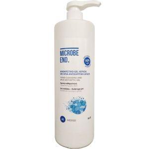 Medisei Microbe End Ήπιο Καθαριστικό Gel Χεριών 70% 1000ml