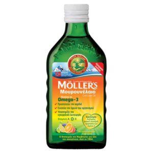 Moller's Cod Liver Oil Μουρουνέλαιο Με Γεύση Tutti Frutti 250ml