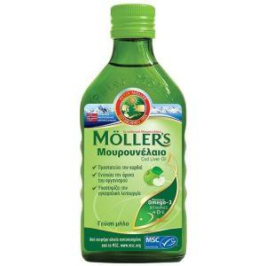 Moller's Μουρουνέλαιο Cod Liver Oil Apple Flavour ΜεΓεύση Μήλο 250ml