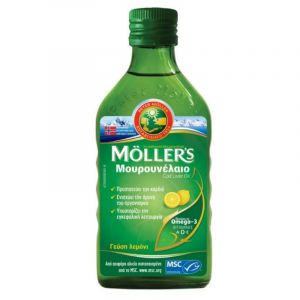 Moller's Μουρουνέλαιο Cod Liver Oil Λεμόνι 250ml