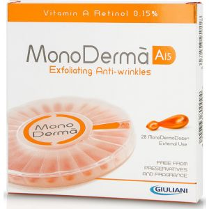 Monoderma A15 Exfoliating Anti-wrinkles Με Καθαρή Βιταμίνη Α Kαι Ρετινόλη 0,15% Σε 28 Μονοδόσεις