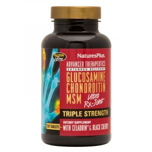 Natures Plus Advanced Therapeutics Extended Delivery Glucosamine Chondroitin Msn Ultra Rx-Joint Συμπλήρωμα Τριπλής Δράσης Για Τη Λειτουργία Των Αρθρώσεων Με Μαύρο Κεράσι 120 Tabs