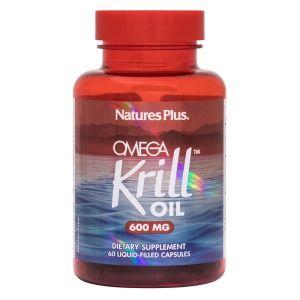 Natures Plus Omega Krill Oil 600mg Ωμέγα 3 Από Έλαιο Κριλ 60 Caps