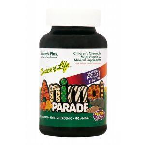 Nature's Plus Animal Parade Πολυβιταμίνη Για Παιδιά Με Γεύση Κεράσι, Πορτοκάλι, Σταφύλι 90tabs