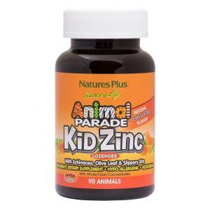 Nature's Plus Animal Parade Kid Zinc Συμπλήρωμα Διατροφής με Ψευδάργυρο 90 Μασώμενες Ταμπλέτες