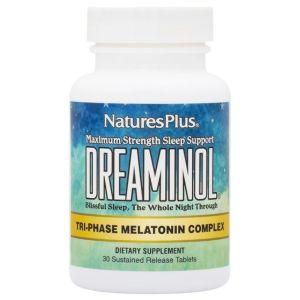 Nature's Plus Dreaminol Φόρμουλα Μελατονίνης Για Τη Βελτίωση Του Ύπνου 30tabs
