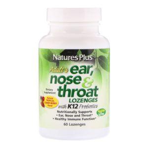 Nature's Plus Ear Nose & Throat 60 Μασώμενα Δισκία
