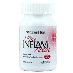 Nature's Plus Ultra Inflam Actin Ισχυρή Αντιφλεγμονική Φόρμουλα 60 vcaps