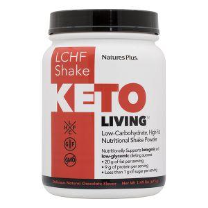 Nature's Plus Keto Living LCHF Shake Chocolate Συμπλήρωμα Διατροφής Για Υποστήριξη Κετογονικής Διατροφής 675gr