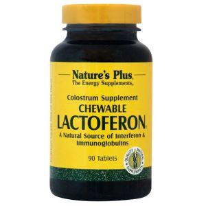 Nature's Plus Lactoferon Συμπλήρωμα Από Καθαρό Πρωτόγαλα 90 Μασώμενες Ταμπλέτες