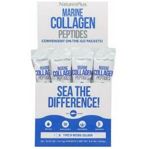 Natures Plus Marine Collagen Peptides Σκεύασμα Που Ενισχύει Την Ελαστικότητα Του Δέρματος 20 Sticks x 12.2g