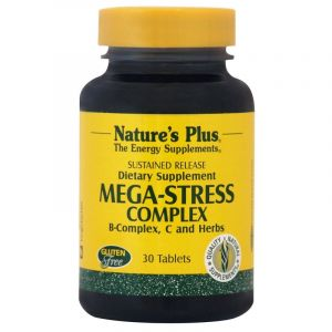 Nature's Plus Mega-Stress Complex Φόρμουλα Κατά Του Άγχους 30 Ταμπλέτες