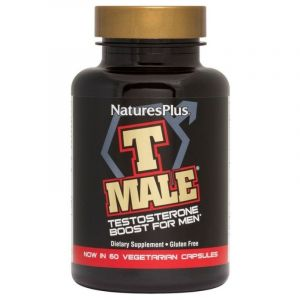 Nature's Plus T Male Συμπλήρωμα Διατροφής Για Την Αύξηση Της Ενδογενούς Τεστοστερόνης 60 caps