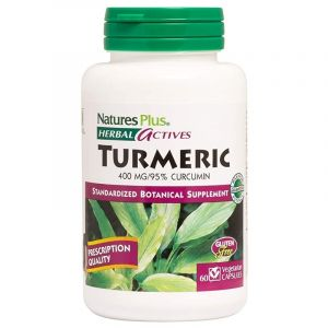 Nature's Plus Turmeric 400mg Κουρκουμάς - Αντιοξειδωτικό Συμπλήρωμα Διατροφής 60 Veg. Caps