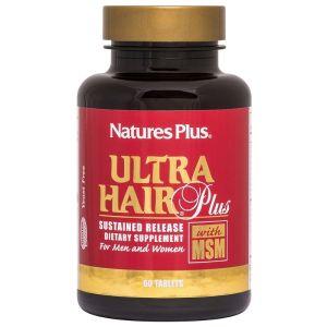 Nature's Plus Ultra Hair Plus  Ισχυρή Φόρμουλα Για Τα Μαλλιά 60 Ταμπλέτες