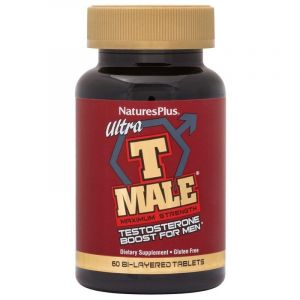 Natures Plus Ultra T-Male Bi-Layer Φόρμουλα Για Την Εξισορρόπηση Των Ανδρικών Ορμονών 60 Φυτικές Ταμπλέτες