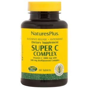 Nature's Plus Super C Complex 1000mg Βιταμίνη C 60 Ταμπλέτες