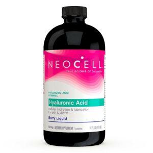 Neocell Hyaluronic Acid Liquid Υαλουρονικό Οξύ, Μύρτιλλο & Βιταμίνη C, Ενυδάτωση Επιδερμίδας (Υγρό) 473ml