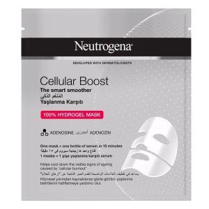 Neutrogena Cellular Boost 100% Hydrogel Mask Μάσκα Προσώπου Αντιγήρανσης 30ml