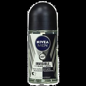 Nivea Men Invisible for Black & White Αποσμητικό Roll On 48h 50ml