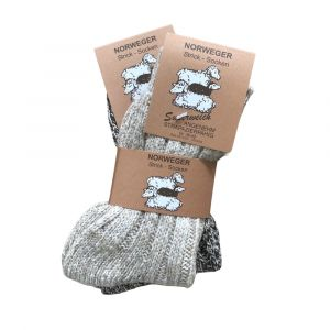 Norweger Thermal Unisex Κάλτσες Μπεζ-Καφέ 2048 2 Ζευγάρια