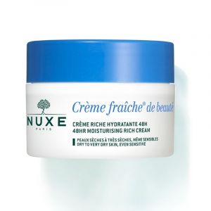 Nuxe Creme Fraiche De Beaute Rich 48ωρη Ενυδατική Κρέμα Πλούσιας Υφής Για Προστασία Από Την Ατμοσφαιρική Ρύπανση 50ml